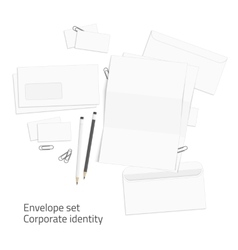 Envelope corporate identity elements vector