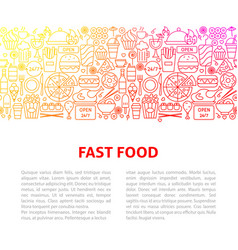 Fast food line design template vector