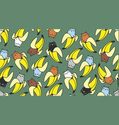 funny cat seamless pattern for children fabric or vector image
