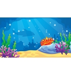 Game Underwater World Background vector image