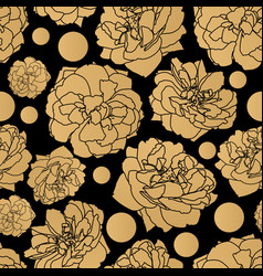 gold rose seamless pattern vector image