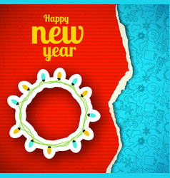 Happy new year paper background vector