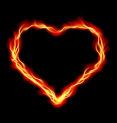 Heart in Fire vector image