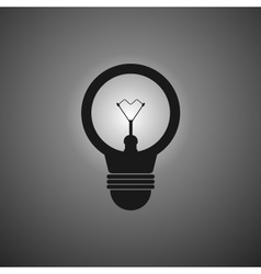 icon bulb web in simple flat style vector image