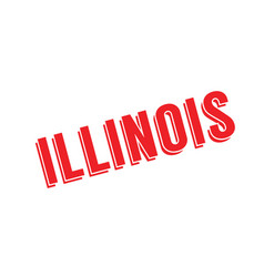 illinois rubber stamp vector image