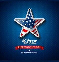 Independence day of the usa vector