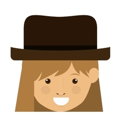 Isolated girl cartoon with hat design vector