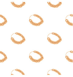 Jewellery chain icon in cartoon style isolated on vector