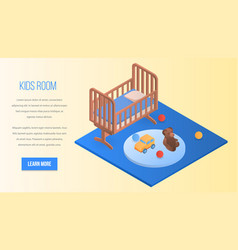 kids room concept background isometric style vector image