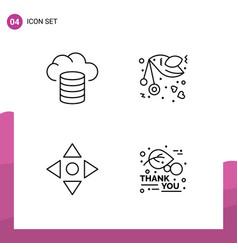 Line pack 4 universal symbols backup move vector