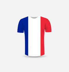 mens t-shirt icon and france flag vector image