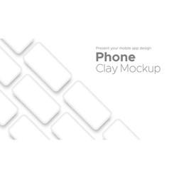 Mobile app design smartphone clay mockup vector