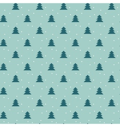Naive Christmas seamless pattern with trees ans vector image