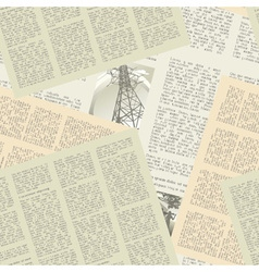 newspaper pattern seamless vector image