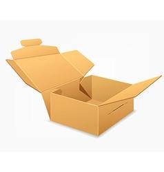 Open parcel boxes empty brown box vector image
