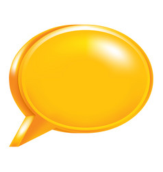orange empty speech bubble icon vector image