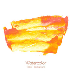 orange yellow red gold marble hand painted vector image