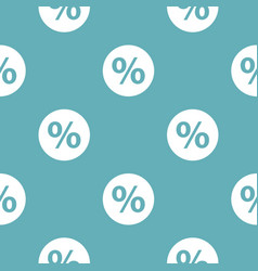 percent sign pattern seamless blue vector image
