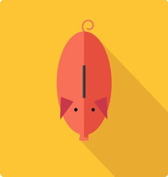 Piggy bank simple flat vector
