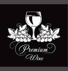 premium wine club isolated monochrome emblem flat vector image