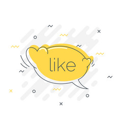 Quick tips badge with like speech bubble trendy vector