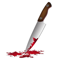 realistic bloody knife knife with blood vector image