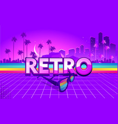 retro party wave vector image