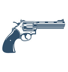Revolver gun detailed handgun isolated on white vector
