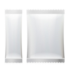 sachet white empty clean blank of stick vector image