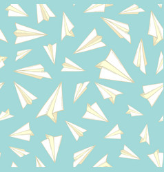 seamless pattern of paper planes vector image