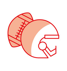 Shadow football helmet and ball vector