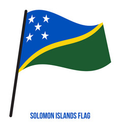 Solomon islands flag waving on white background vector
