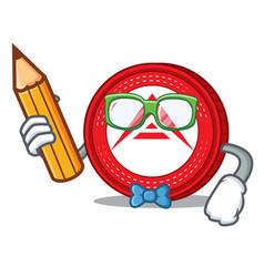 Student ark coin character cartoon vector