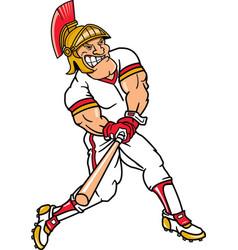 Trojan sports logo mascot baseball vector