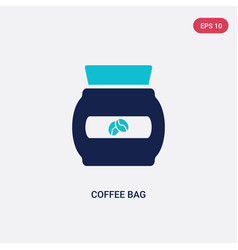 two color coffee bag icon from drinks concept vector image