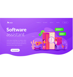 User guide landing page template vector