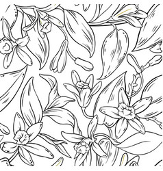 Vanilla seamless pattern vector