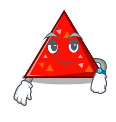 Waiting triangel mascot cartoon style vector