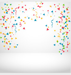 white background with colorful confetti vector image