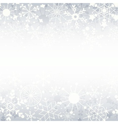 Winter Snowflake Background with Copy Space vector image