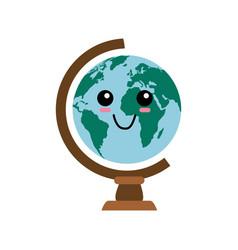 World globe cartoon vector