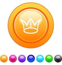 Crown circle button vector image vector image