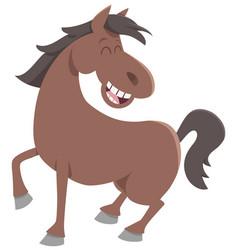 cute horse farm animal vector image vector image