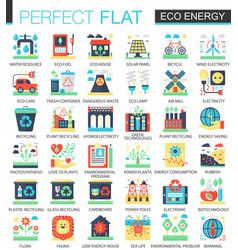 eco energy complex flat icon concept vector image