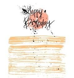 Hand draw texture happy birthday card vector