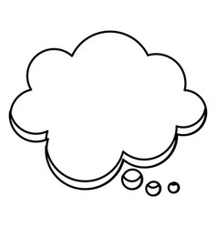 Silhouette cloud chat bubble icon vector
