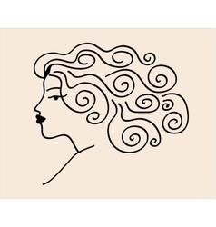 Sketch woman vector image
