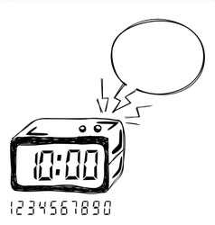 Digital Clock Bubble Speech vector image vector image