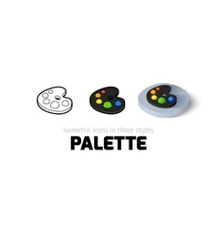 Palette icon in different style vector image