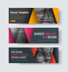 template of horizontal web banners with a red vector image vector image